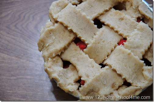 pretty playdough apple pie with lattice top