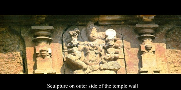 Sculpture on outer side of the mahalakshmi temple wall kolhapur