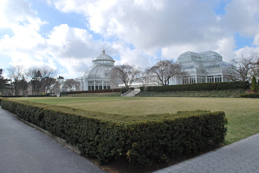 The Enid A. Haupt Conservatory. A beautiful 1902 Victorian glass house. This where the Orchid Show is housed.