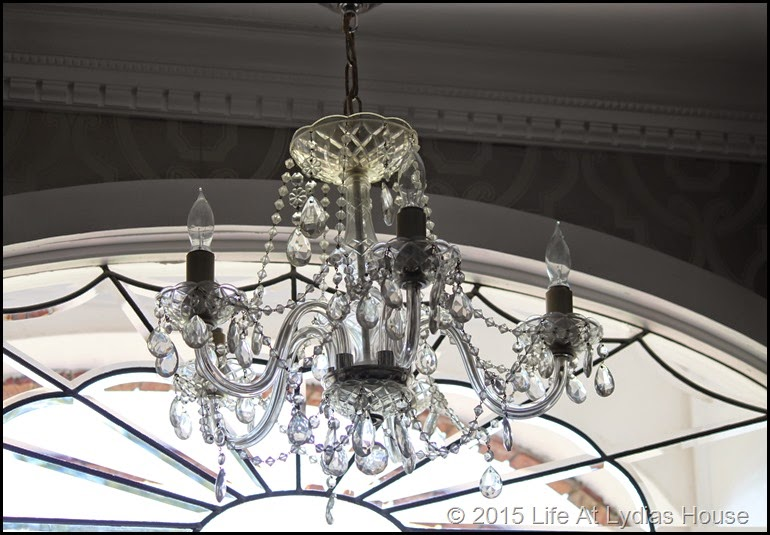 chandelier and fanlight