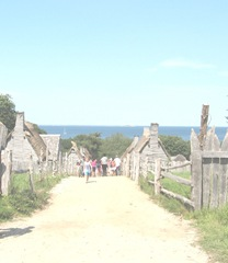 Plimoth Plant walking into the village