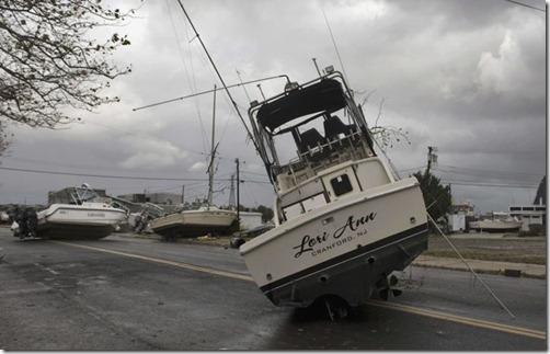 Boatson streetPointPleasantNJafter Sandy