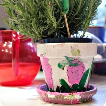 Painted Flower Pots from Domestic Goddesque
