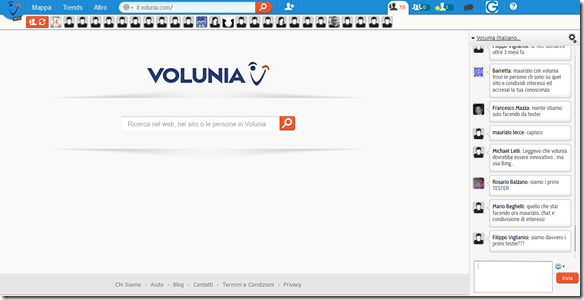 Volunia Home Page