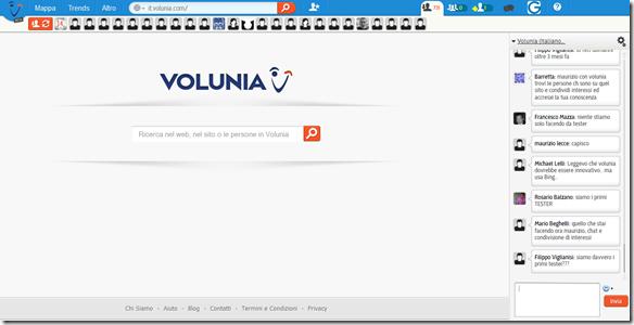 Volunia Home Page