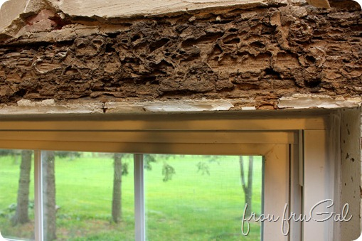 Kitchen Demo - Window lintel damage
