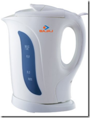Anazon : Buy Bajaj 1-Litre cordless Kettle at Rs. 935 only