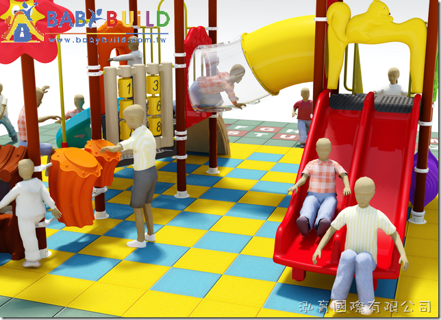 BabyBuild 兒童遊戲設計規劃 3D示意圖