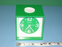 Goldbühl alarm clock, green, front