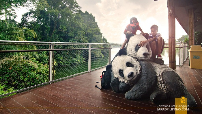 A Sculpture of Singapore's Giant Pandas