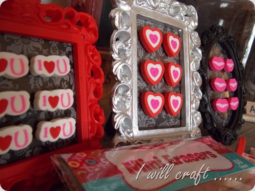 I will craft...Mini Eraser Valentine Art (7)