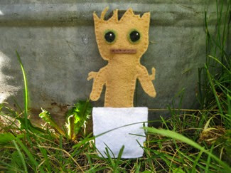 Baby Groot Catnip Toy from Felty Spice