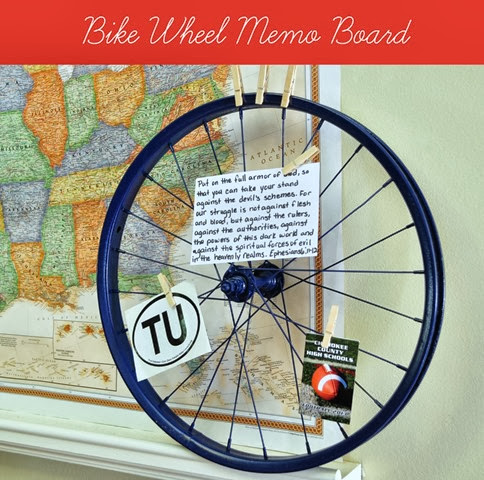 Bike Wheel Memo Board