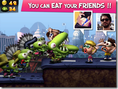 تستطيع الإستمتاع بأكل أصدقائك وتحويلهم إلى زومبيين داخل جيشك فى لعبة تسونامى الزومبيين