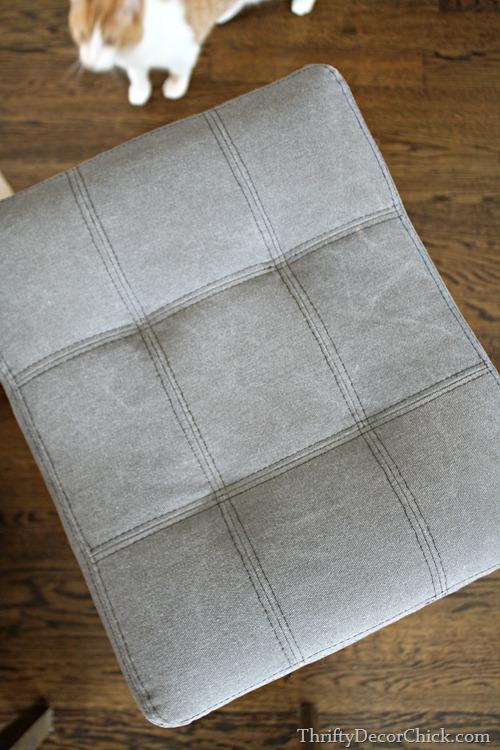 canvas stool with nailhead