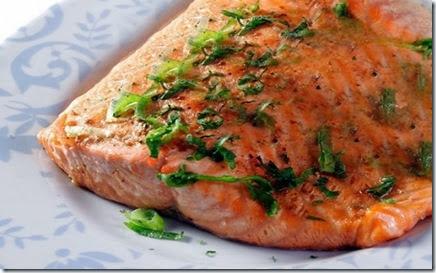 filé de salmão assado