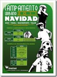 Campamento Urbano de Navida: Pádel, Golf, Fútbol y mucho más en Green Canal Madrid.