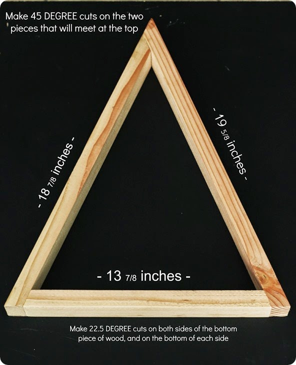 measurements for a large wooden triangle tree from alwaysinwonder.com