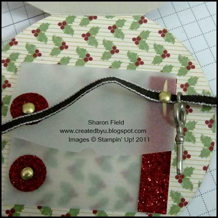Santas_Magic_Key, Ornament_Card, round_Tab_Punch, Holiday_mini, New_Product, DSP, Sharon_Field, Holly_Berry_Bouquet, santas_Magic_Key_Poem, tutorial, Quilted_Satin_Ribbon, Simply_Scored, Createdyu_Blogspot, Online_Shopping, Red_Glimmer_Paper