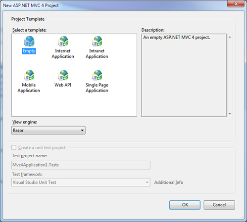 Plantilla de proyectos MVC 4 beta