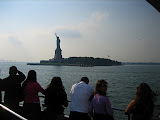 View of The Statue of Liberty from the boat