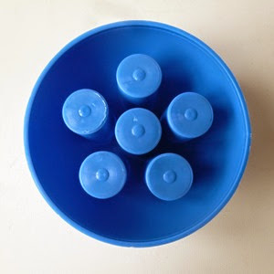 blue plastic desk organizer bottom