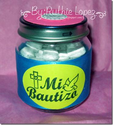 Recuerdos de Bautizo - Baptims Candy Bar - Ruthie Lopez