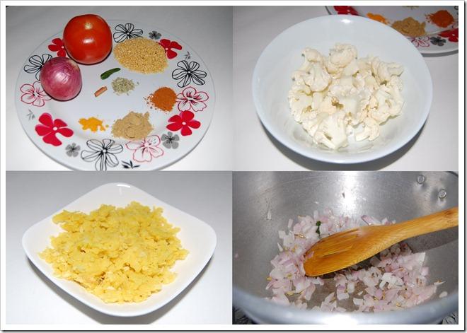 Cauliflower soup Process