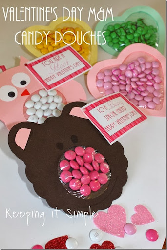 Easy Valentineu0027s Day Craft Idea: Mu0026M Candy Pouches {Free Printable}    Keeping It Simple Crafts