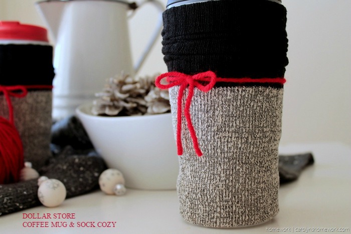 Dollar Store Coffee Cup Sock Cozy - carolynshomework (7)
