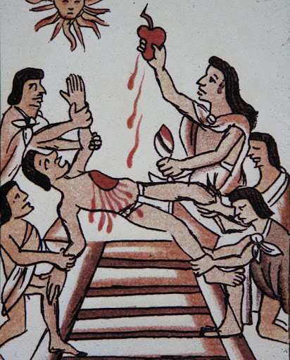 Aztec, Codex Florentino, Sacrifice to Sun
