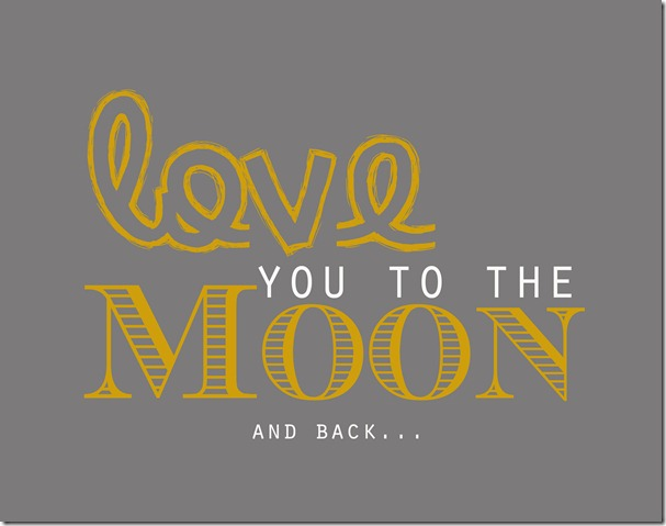 Moon and back copy