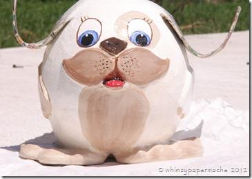Handmade Whimsical Pup Sculpture