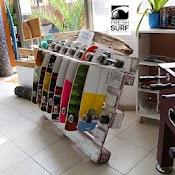 Skateboards web Ideenreich goes FreshSurf   Kreatives aus Treibholz und Paletten im Surfcamp Fuerteventura