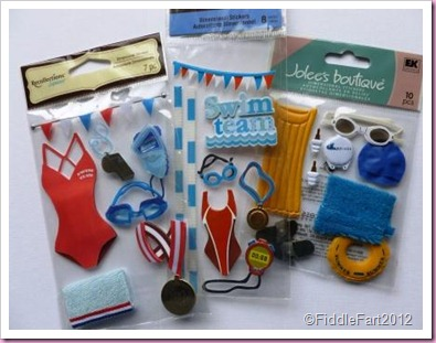 3d swimming stickers