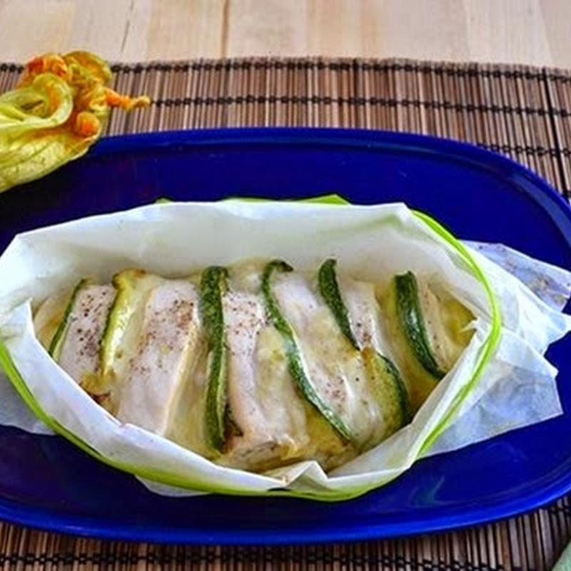Κοτοπουλο στηθος  γεμιστό  με ψητά κολοκυθάκια και τυρί