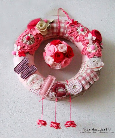ghirlanda rosa