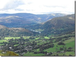 Wansfell Pike--looking down on Ambleside