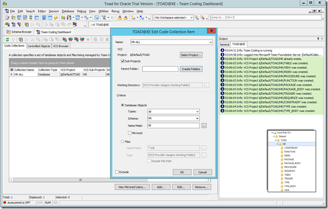 Toad_For_Oracle-TFS_Create_New_Code_Collection_Resolved