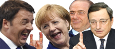 Renzi Merkel Silvio Draghi