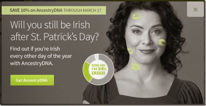 Melanie Nelson models for AncestryDNA's St. Patrick's Day promo