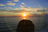 A Halo Frames The Sunset - Great Ocean Road, Australia