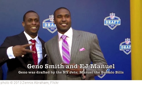 'EJ Manuel, Geno Smith At NFL Draft Red Carpet: Friends Since 10th Grade' photo (c) 2013, Zennie Abraham - license: http://creativecommons.org/licenses/by-nd/2.0/
