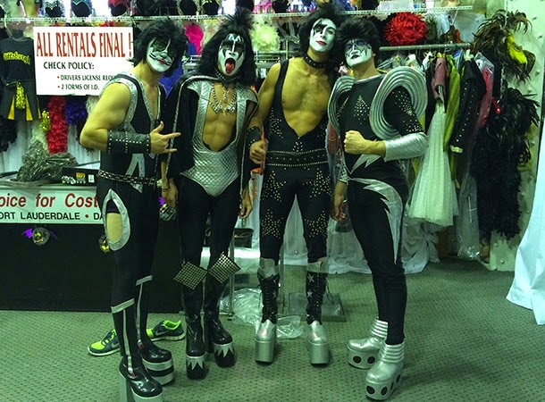 Pens players dressed as KISS