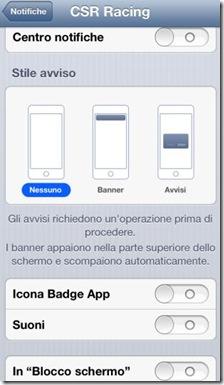 Notifiche applicazione iPhone completamente disattivate