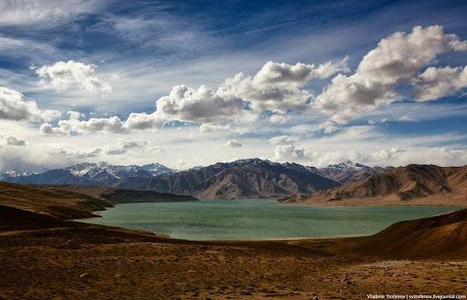 Karakul Lake-the highest lake of the Pamir Plateau