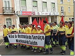 oclarinet. Marcha Contra o Desemprego 3. Out 2012
