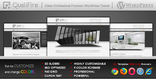 QualiFire WordPress Theme - Business Corporate