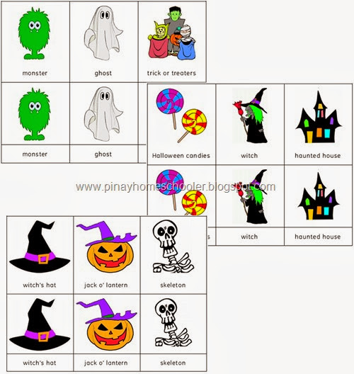 FREE Halloween Themed Nomenclature Cards