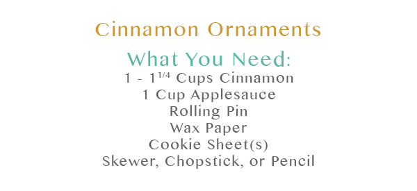 Cinnamon Ornaments What You Need